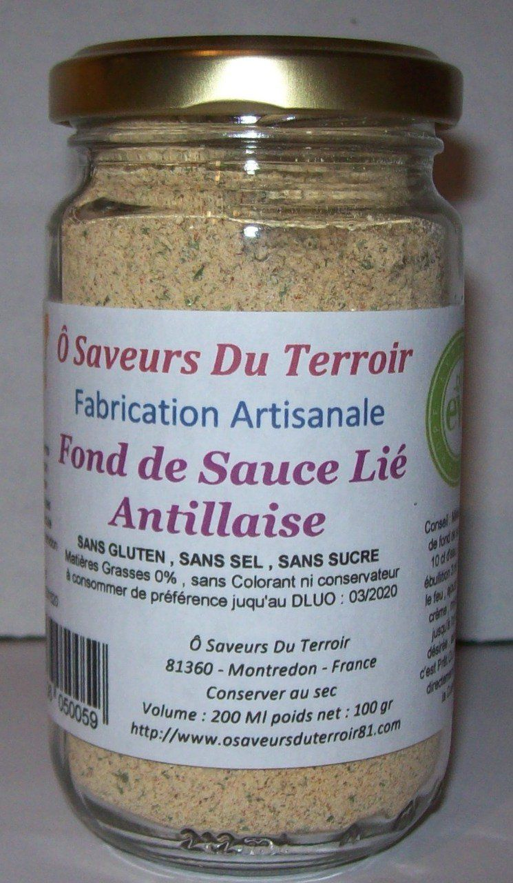 6 Fonds de Sauce Saveurs Antillaise 200 ML/100 gr - Copie